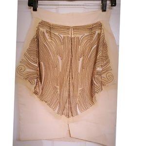 Fendi Skirts - FENDI cream linen mini skirt